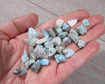 Mini Larimar Tumbled Stone Small Bag T182