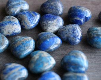 Lapis Lazuli Shaped Heart K1