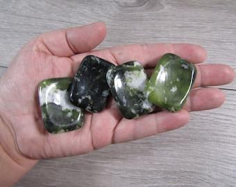 Serpentine Rectangle Worry Stone E118