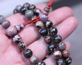 Rhodonite Buddha Mala Bracelet G176