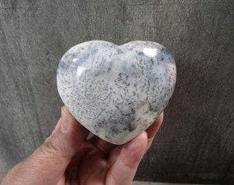 Dendritic Opal Heart 8.2 oz  #8118 cc