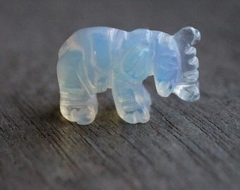 Opalite Stone Elephant Figurine F128
