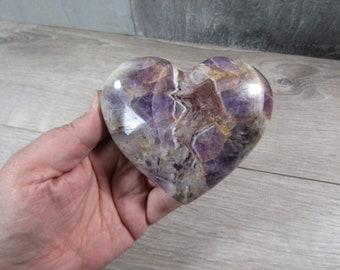 Banded Amethyst Heart 11.1 oz 8621 cc