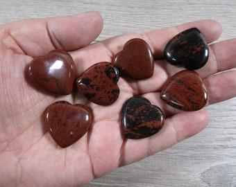 Mahogany Obsidian Flat Heart K125