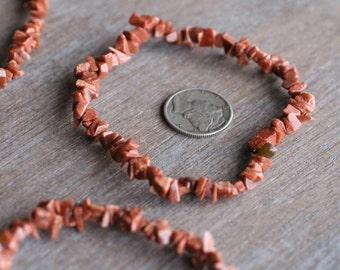 Goldstone Chip Bracelet B106