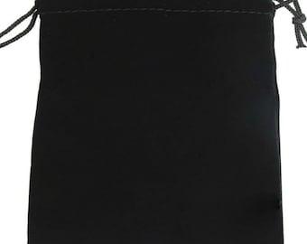 3x3 Inches Black Felt Gift Gemstone Pouch Q11