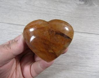 Hematoid Quartz Heart 3.7 oz  #8577 cc