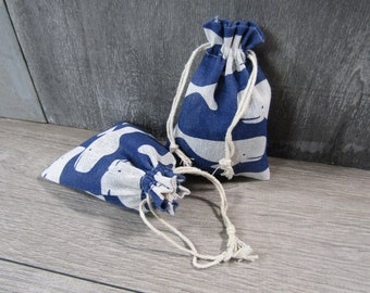 Whale Bag Gift Gemstone Pouch 5.5X3.5 Inches Q35