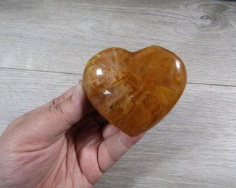 Hematoid Quartz Heart 5.6 oz  #8566 cc