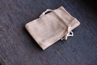 Burlap Gift Gemstone Pouch 2.5 x 3.5 Inches V16 b