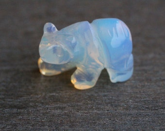 Opalite Stone Bear Figurine F283