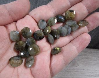 Labradorite Small Faceted Square J128