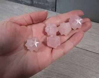 Rose Quartz 20 point Stone Merkaba M120