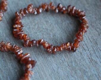 Hessonite Garnet Stretchy String Bracelet G195