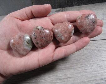 Pink Lepidolite Stone Shaped Heart K113