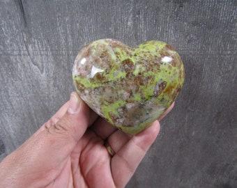 Green Opal Large Heart 7.7 oz  #9003 cc