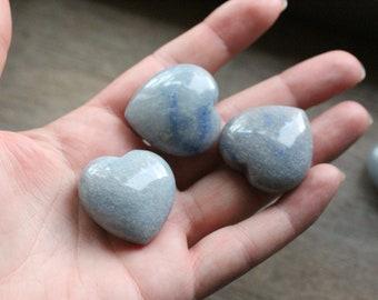 Blue Quartz Stone Shaped Heart K232