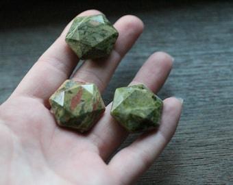 Unakite Stone Shaped Star of David S27