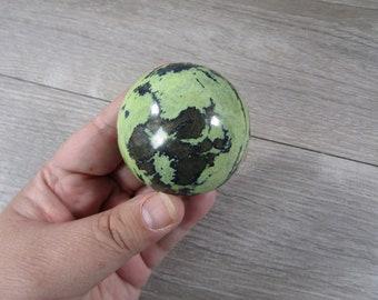 Peruvian Serpentine w Magnatite Sphere 9 ounces 55 mm #8767 cc