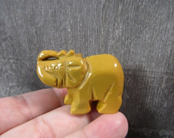 Yellow Jasper Elephant 2 inch Figurine Fig 117