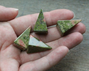 Unakite Small Tall Pyramid #M118