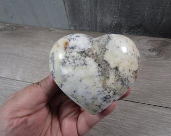 Dendritic Opal Heart 9.4 oz  #8120 cc