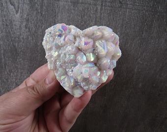 Angel Aura Quartz Heart Cluster 6.3 ounces # 9137 cc