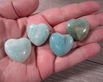 Amazonite Medium Heart K421