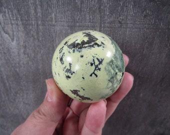 Peruvian Serpentine w Magnatite Sphere 8.1 ounces 55 mm #8761 cc