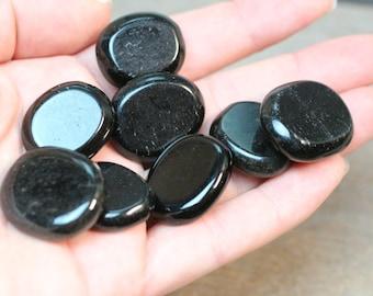 Obsidian Small Flat Disk J113