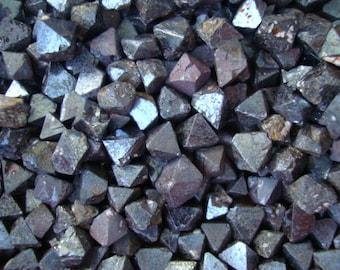 SET of 2 Tiny Magnetite Octahedron Crystal T74