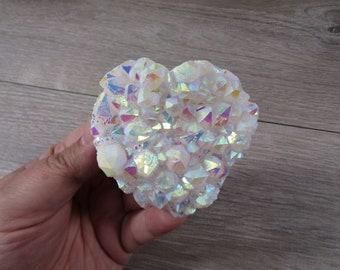 Angel Aura Quartz Heart Cluster 7.3 ounces # 9139 cc