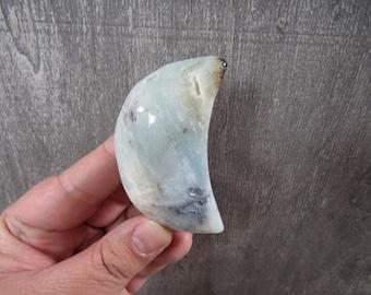 Carribean Blue Amazonite Large Moon 3.5 ounces #8724 cc