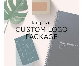 """Custom Logo and Branding Design Package- """"King-Size"""""""