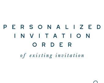 EXISITING Personalized DIGITAL PDF Invitation (5x7)