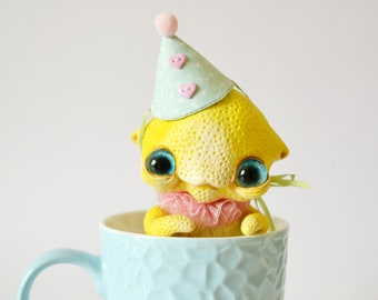 LemonHead - whimsical art doll fantasy creatures