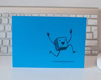 QWERKY computer key greetings card - ESCAPE