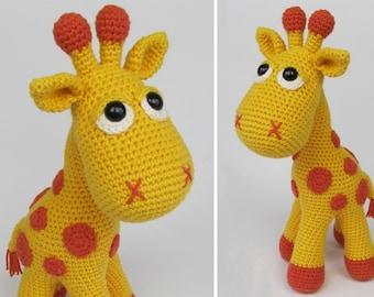Giraffe Neli - Amigurumi Häkeln Muster / PDF e-Book / gefüllte Tier Tutorial