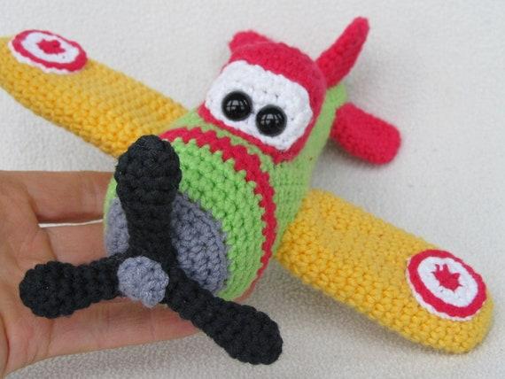 Little Airplane Tadeas  Crochet Pattern / PDF e-Book / Soft