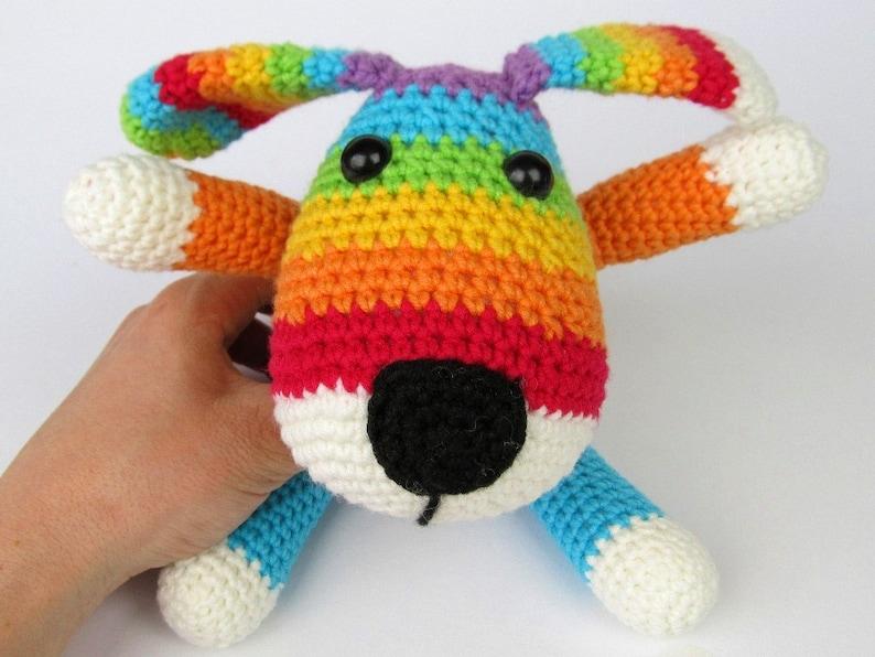 Rainbow Puppy  Amigurumi Crochet Pattern / PDF e-Book / image 0