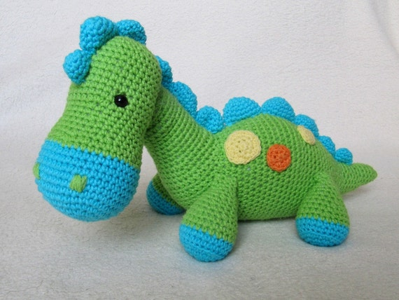 Mein Freund Dinosaurier Dino Amigurumi Häkeln Muster Pdf Etsy