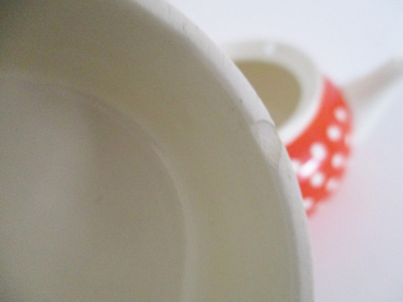 as is condition French teaware spotted orange Mid-century Villeroy /& Boch Lobeck 32 oz teapot