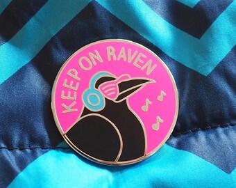 Raven Pun Enamel Pin