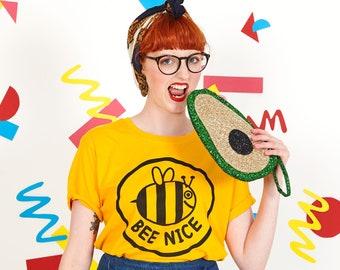 Bee Nice Yellow Unisex T-shirt