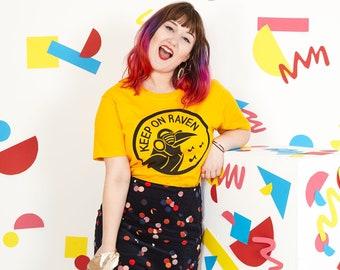 Keep on Raven Yellow Unisex T-shirt