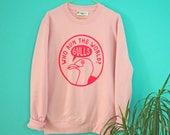 Feminist Sweatshirt Pink Seagull