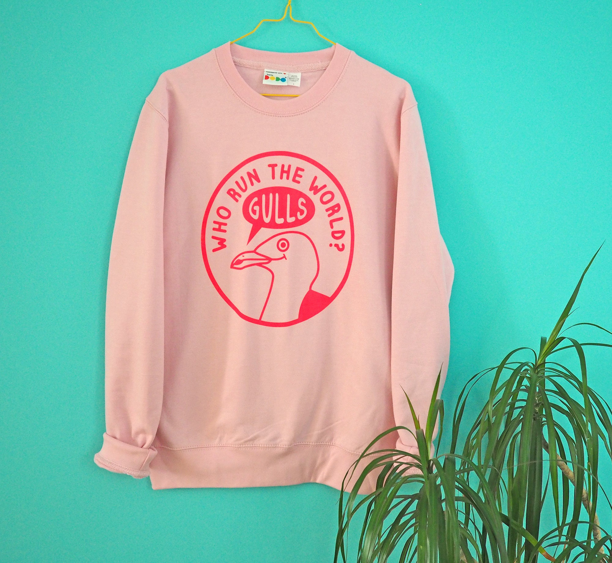 Who Run the World Jumper Pink Jumper Seagull Cute Sweater | Etsy