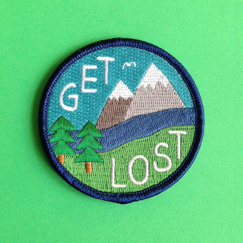 Get Lost Embroidered Patch Funny Iron On Patch Explore image 0