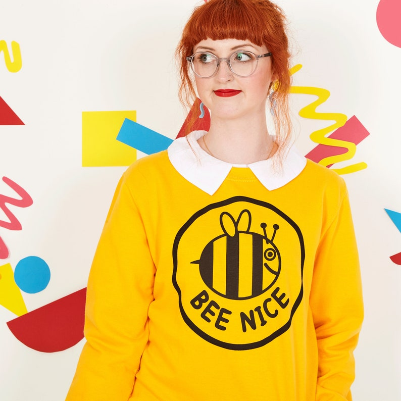 Bee Nice Yellow Sweatshirt image 0