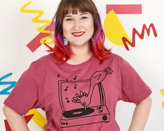 Record Player Bird Unisex T-shirt